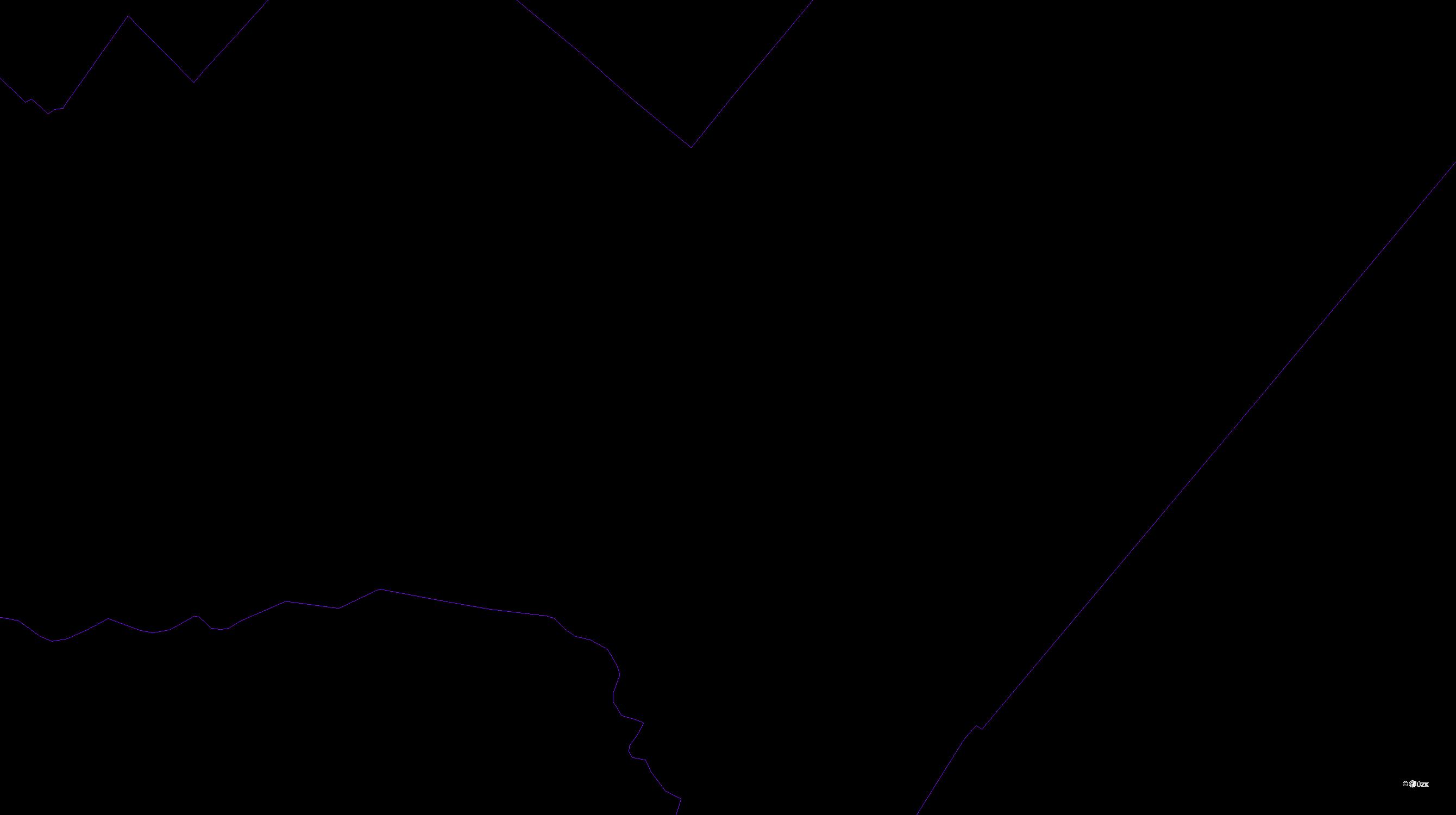 Katastrální mapa pozemků a čísla parcel Čechůvky