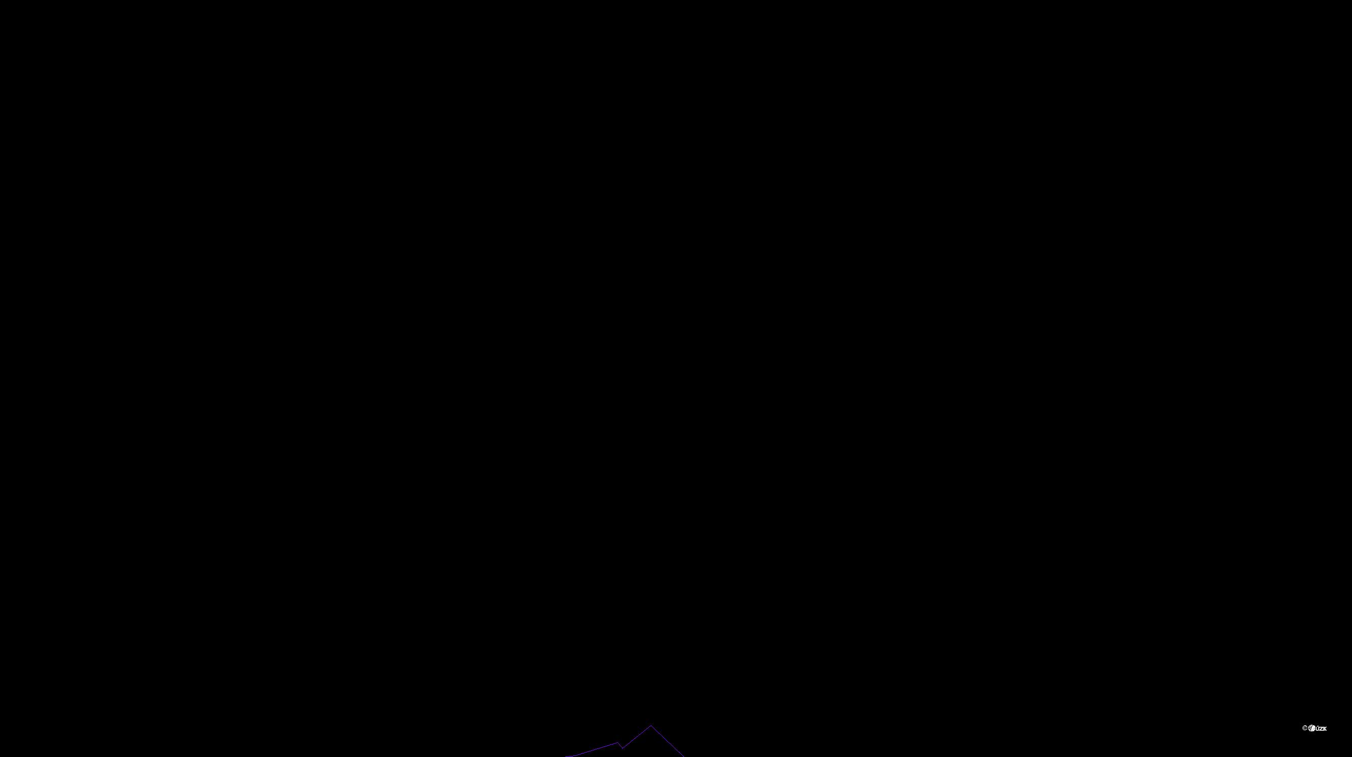 Katastrální mapa pozemků a čísla parcel Zdíkovec