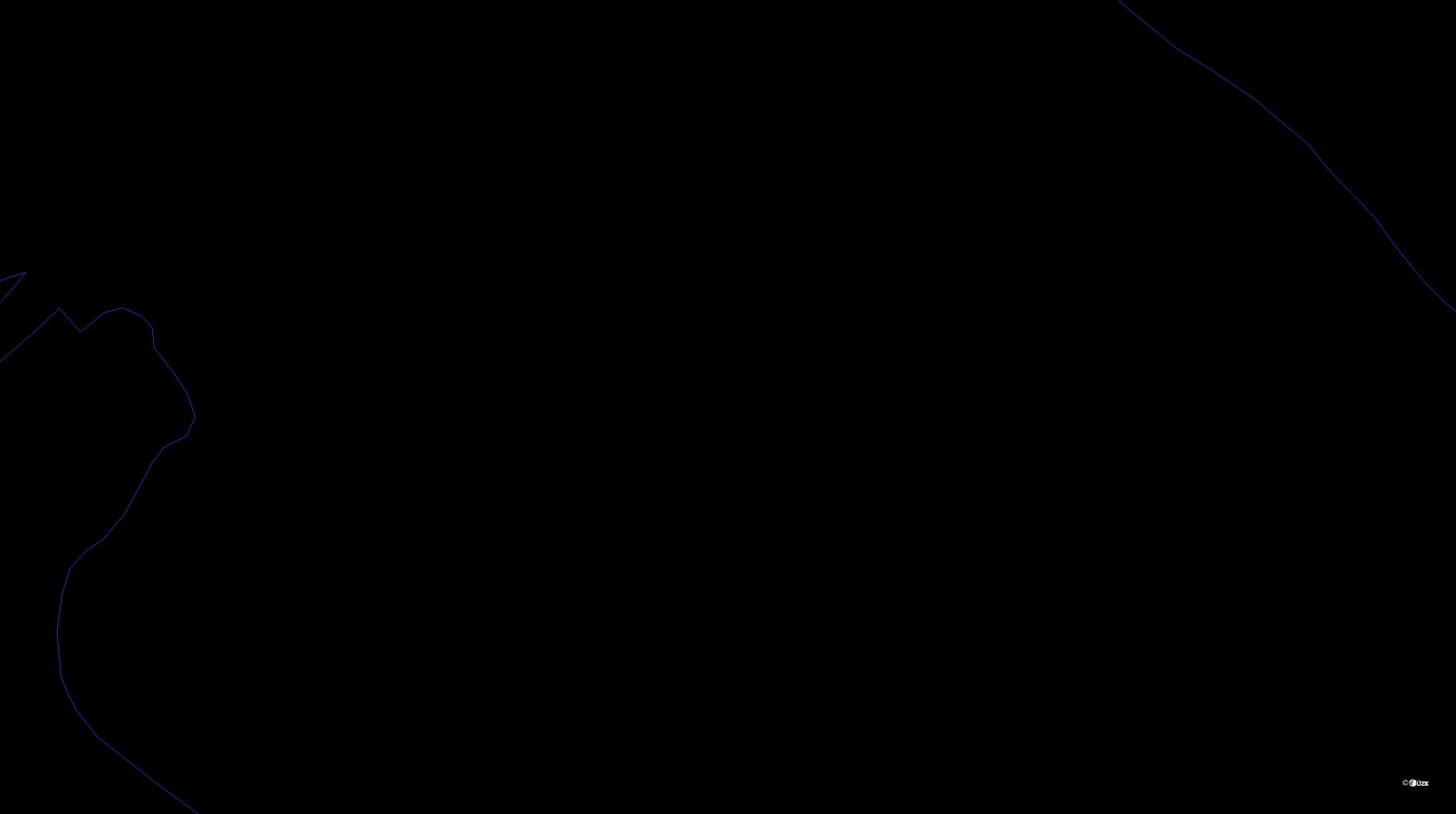 Katastrální mapa pozemků a čísla parcel Kruh v Podbezdězí
