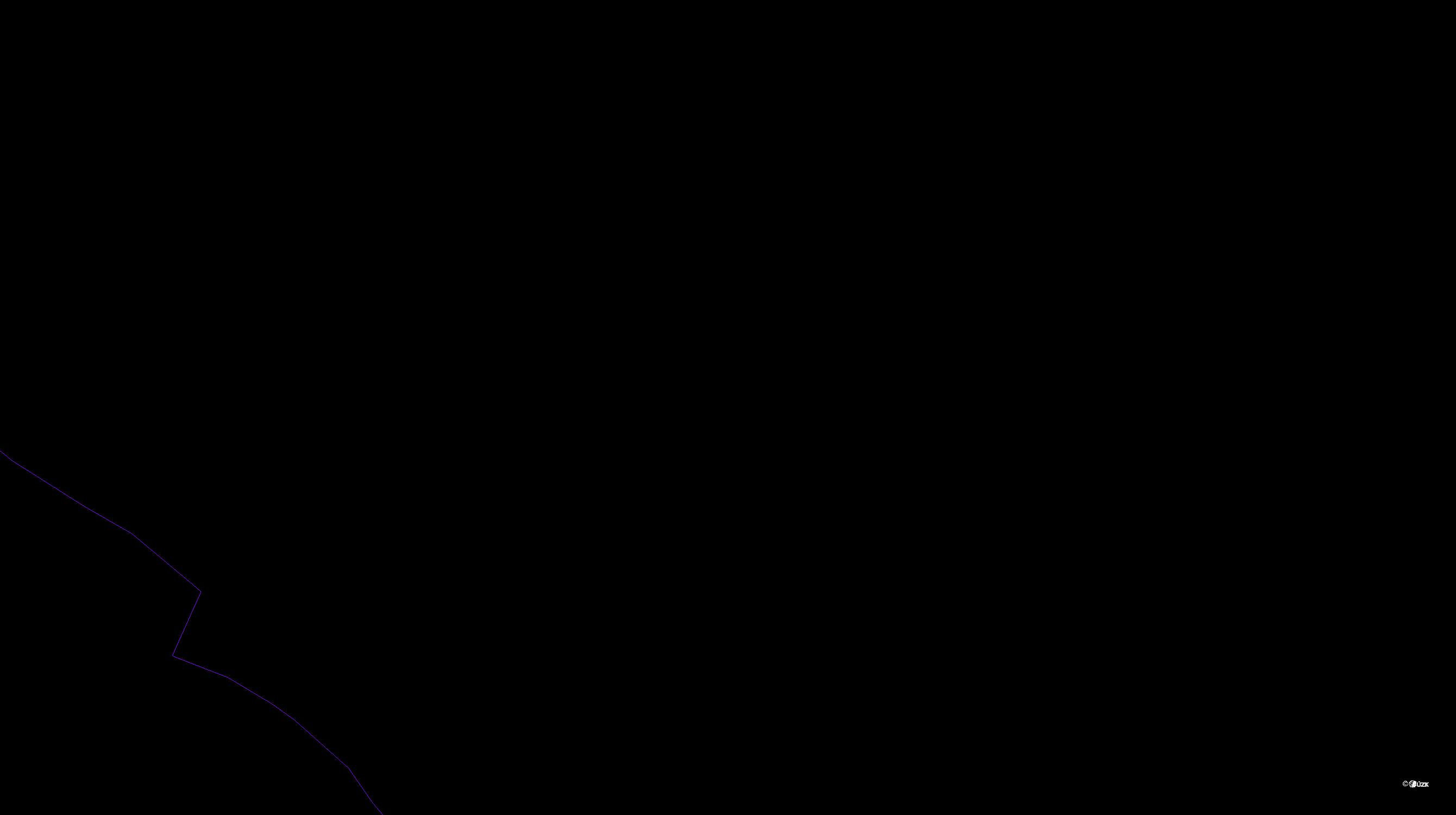 Katastrální mapa pozemků a čísla parcel Žešov