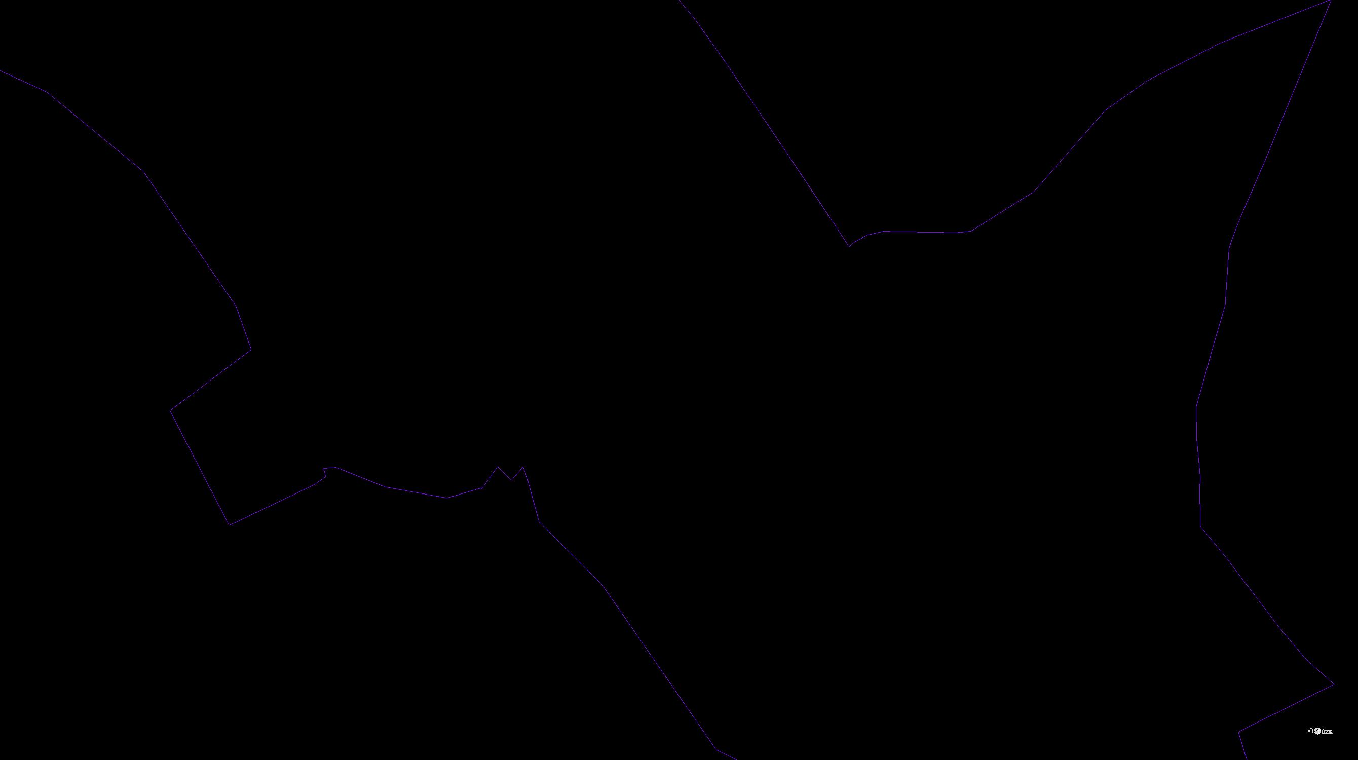 Katastrální mapa pozemků a čísla parcel Láz v Brdech