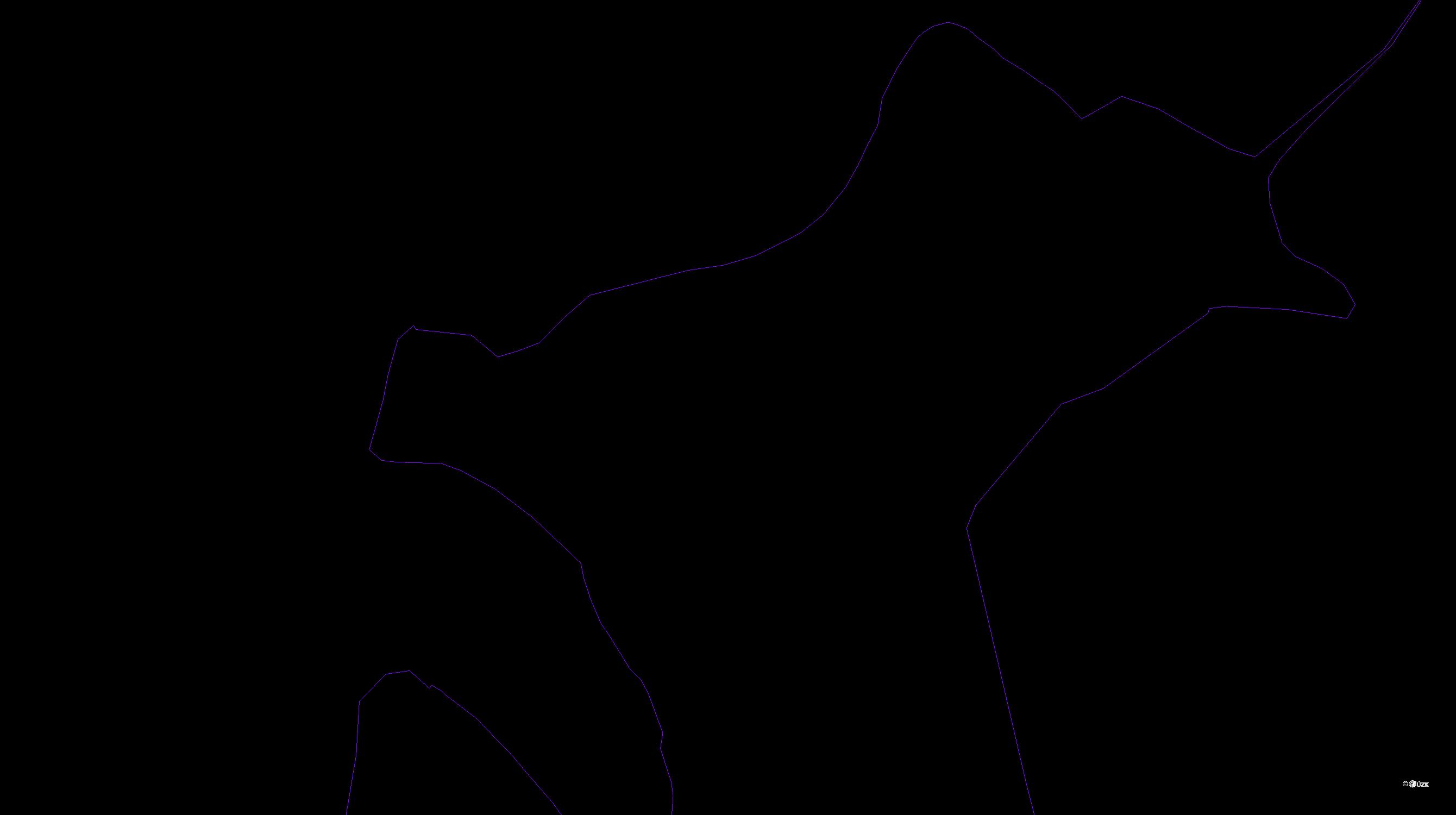 Katastrální mapa pozemků a čísla parcel Hlubočky IV