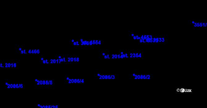 Parcela st. 2014 v k.ú. Aš, Katastrální mapa