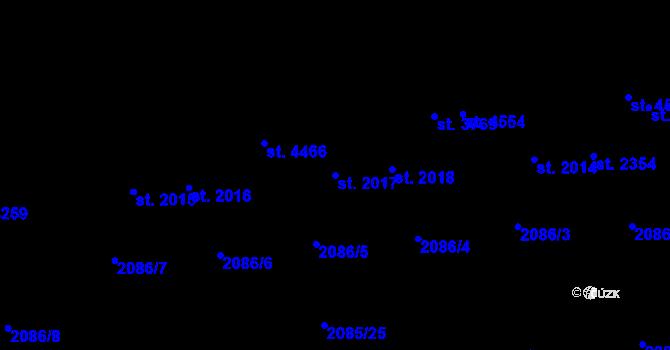 Parcela st. 2017 v k.ú. Aš, Katastrální mapa