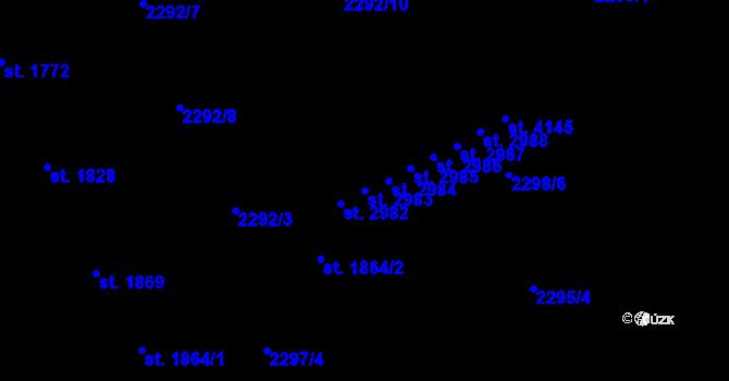Parcela st. 2983 v k.ú. Aš, Katastrální mapa
