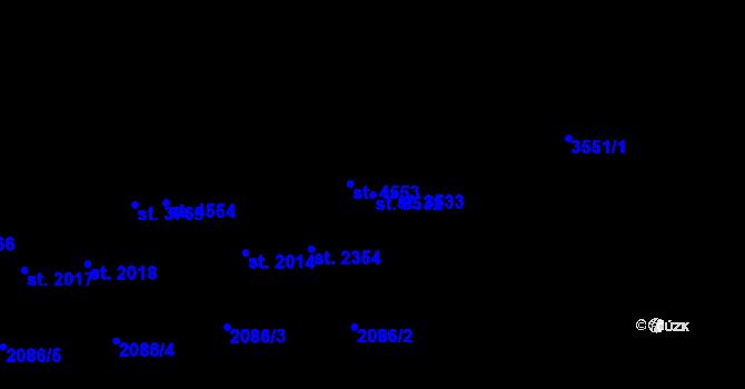 Parcela st. 3532 v k.ú. Aš, Katastrální mapa