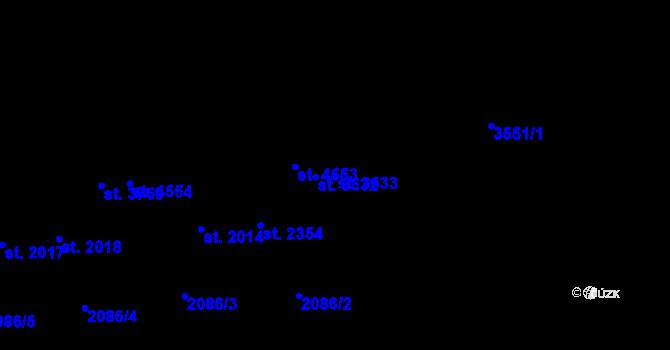 Parcela st. 3533 v k.ú. Aš, Katastrální mapa