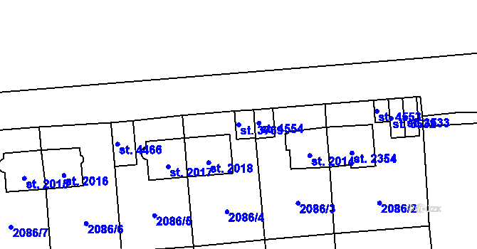 Parcela st. 3769 v k.ú. Aš, Katastrální mapa