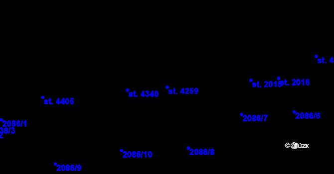 Parcela st. 4259 v k.ú. Aš, Katastrální mapa