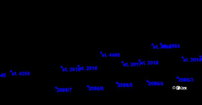 Parcela st. 4466 v k.ú. Aš, Katastrální mapa