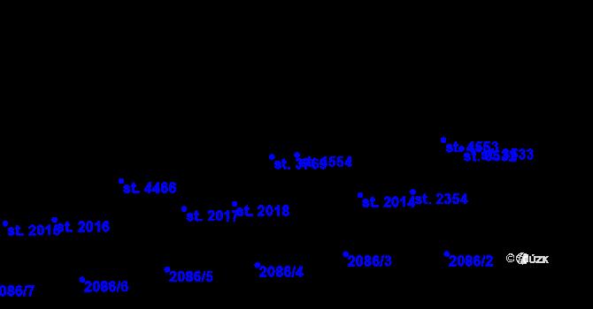 Parcela st. 4554 v k.ú. Aš, Katastrální mapa