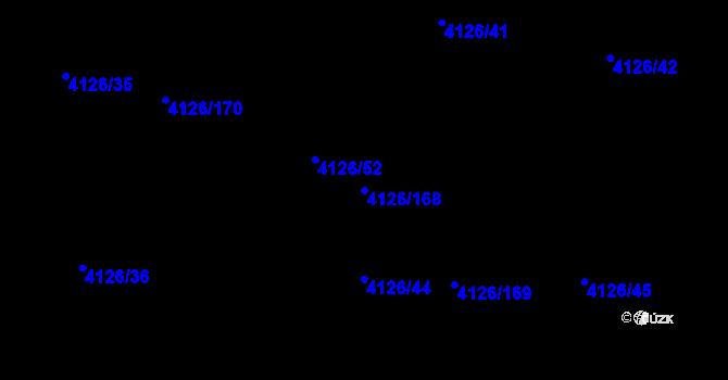 Parcela st. 4126/168 v k.ú. Benešov u Prahy, Katastrální mapa
