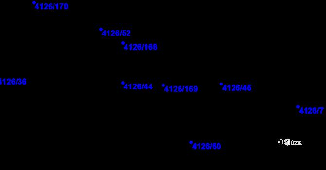 Parcela st. 4126/169 v k.ú. Benešov u Prahy, Katastrální mapa