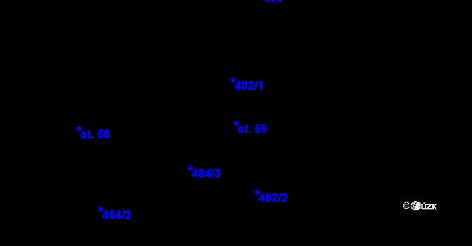 Parcela st. 59 v k.ú. Benešova Hora, Katastrální mapa