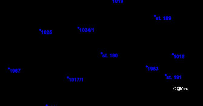 Parcela st. 190 v k.ú. Bílý Potok pod Smrkem, Katastrální mapa
