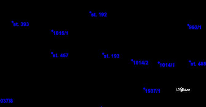 Parcela st. 193 v k.ú. Bílý Potok pod Smrkem, Katastrální mapa