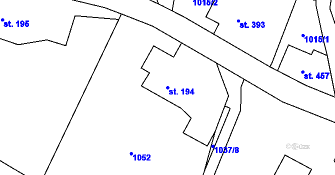 Parcela st. 194 v k.ú. Bílý Potok pod Smrkem, Katastrální mapa