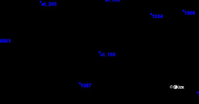 Parcela st. 195 v k.ú. Bílý Potok pod Smrkem, Katastrální mapa