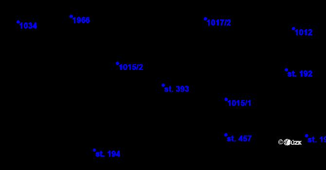 Parcela st. 393 v k.ú. Bílý Potok pod Smrkem, Katastrální mapa