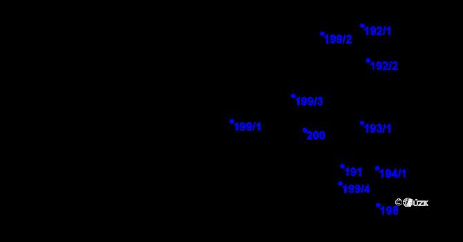 Parcela st. 199/1 v k.ú. Bludovice u Nového Jičína, Katastrální mapa