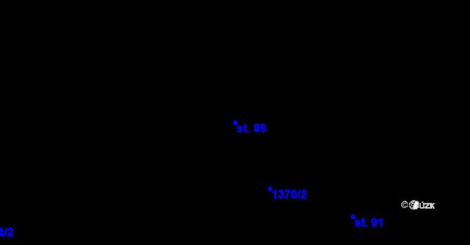 Parcela st. 89 v k.ú. Ohař, Katastrální mapa