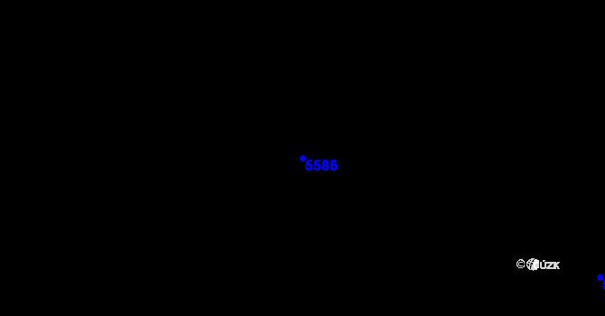 Parcela st. 5586 v k.ú. Borotín u Boskovic, Katastrální mapa