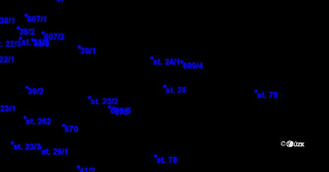 Parcela st. 25 v k.ú. Branov, Katastrální mapa