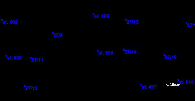 Parcela st. 501 v k.ú. Bratronice u Kladna, Katastrální mapa