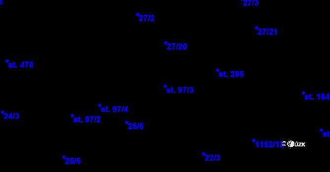 Parcela st. 97/3 v k.ú. Bratronice u Kladna, Katastrální mapa