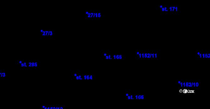 Parcela st. 165 v k.ú. Bratronice u Kladna, Katastrální mapa