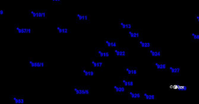 Parcela st. 915 v k.ú. Nový Lískovec, Katastrální mapa
