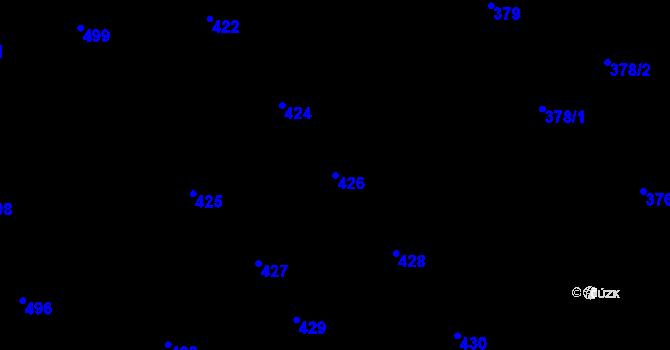 Parcela st. 426 v k.ú. Veveří, Katastrální mapa