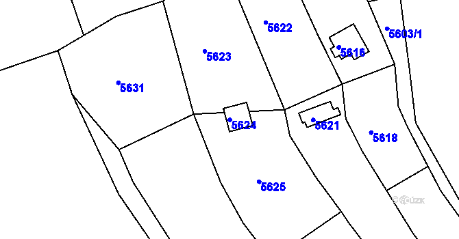 Parcela st. 5624 v k.ú. Žabovřesky, Katastrální mapa