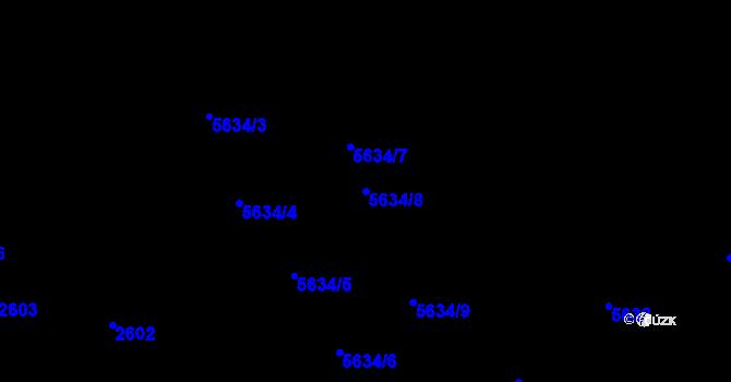 Parcela st. 5634/8 v k.ú. Žabovřesky, Katastrální mapa
