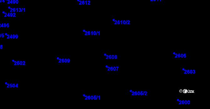 Parcela st. 2608 v k.ú. Komín, Katastrální mapa