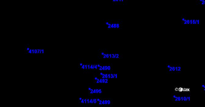Parcela st. 2613/2 v k.ú. Komín, Katastrální mapa
