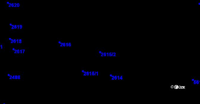 Parcela st. 2615/2 v k.ú. Komín, Katastrální mapa