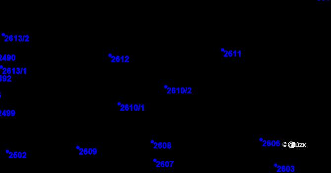 Parcela st. 2610/2 v k.ú. Komín, Katastrální mapa