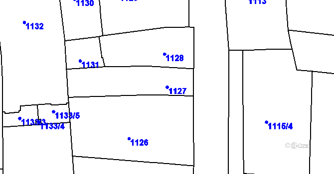 Parcela st. 1127 v k.ú. Trnitá, Katastrální mapa