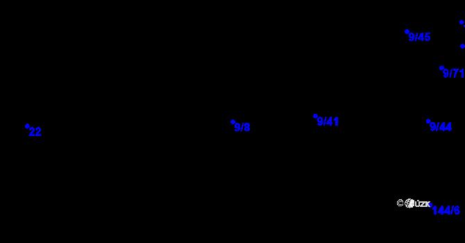 Parcela st. 9/8 v k.ú. Židenice, Katastrální mapa