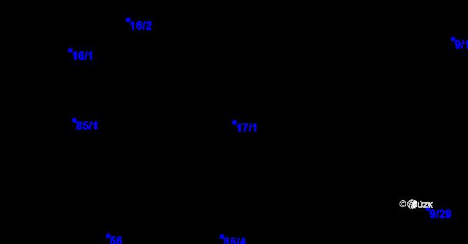 Parcela st. 17/1 v k.ú. Židenice, Katastrální mapa