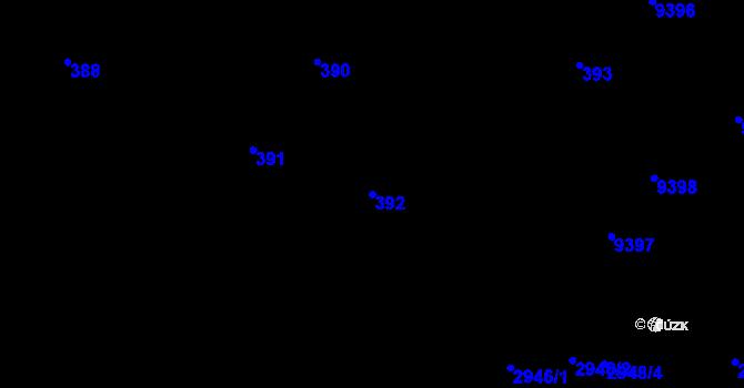 Parcela st. 392 v k.ú. Židenice, Katastrální mapa