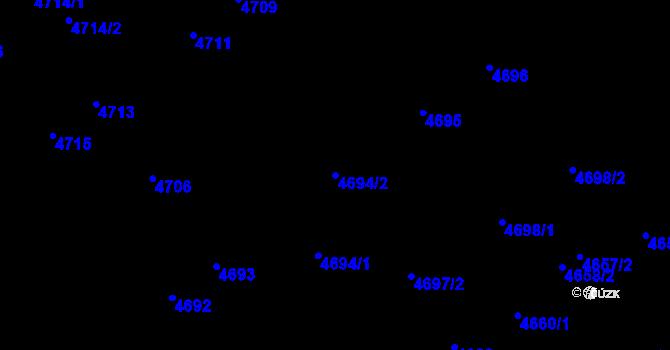 Parcela st. 4694/2 v k.ú. Židenice, Katastrální mapa