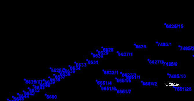 Parcela st. 6629 v k.ú. Židenice, Katastrální mapa