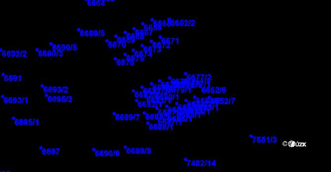 Parcela st. 6679/1 v k.ú. Židenice, Katastrální mapa