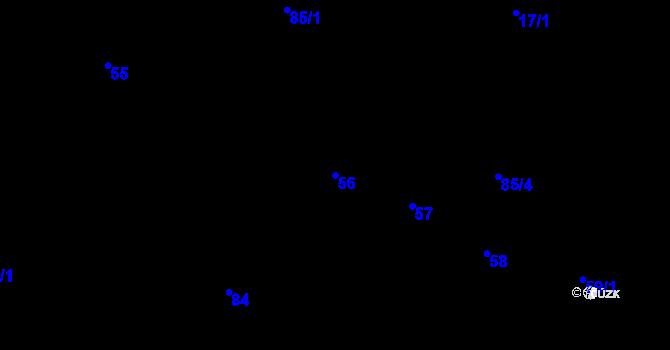 Parcela st. 56 v k.ú. Černovice, Katastrální mapa