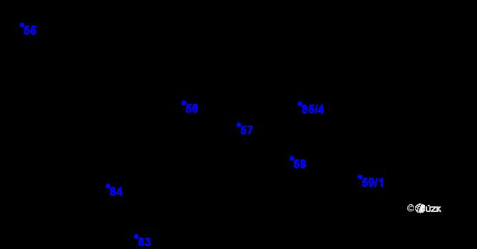 Parcela st. 57 v k.ú. Černovice, Katastrální mapa