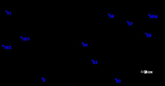 Parcela st. 84 v k.ú. Černovice, Katastrální mapa