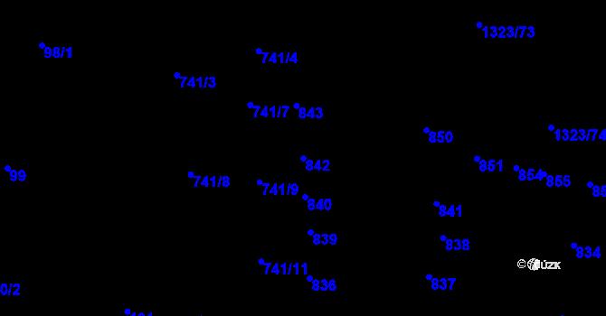Parcela st. 842 v k.ú. Černovice, Katastrální mapa