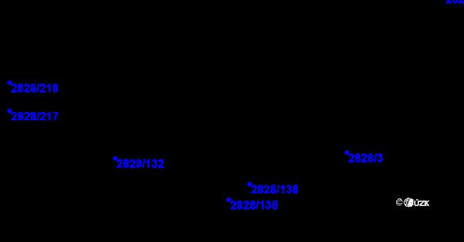 Parcela st. 2828/3 v k.ú. Černovice, Katastrální mapa